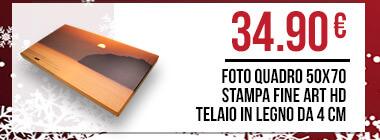 foto quadro 50x70 stampa fine art hd telaio in legno da 4 cm
